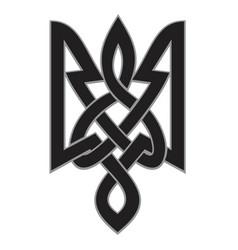 ornament ukrainian trident vector image