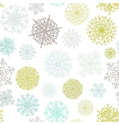 Ornate snowflake seamless background EPS8 vector image