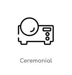 Outline ceremonial icon isolated black simple vector