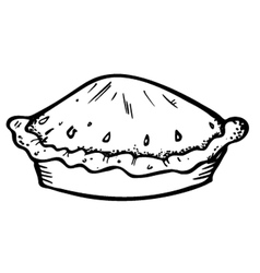Pie doodle vector