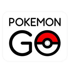 Pokemon go logotype - creative simple vector
