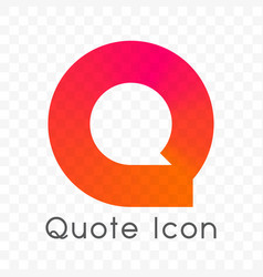 quote chat bubble message icon vector image