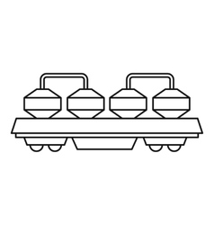 Rail wagon for cement icon outline style vector