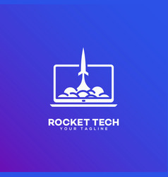 Rocket tech logo vector