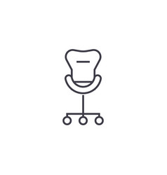 rolling chair line icon sign vector image