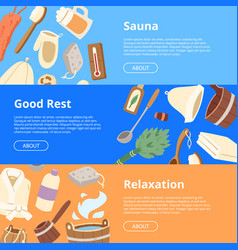 Sauna wooden heat spa relaxation therapy vector