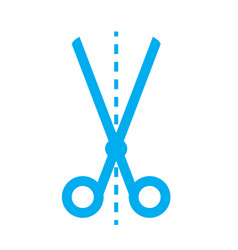 scissors icon on white background scissors sign vector image