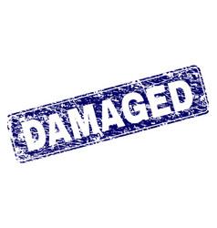 scratched damaged framed rounded rectangle stamp vector image