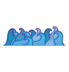sea waves isolated icon vector image