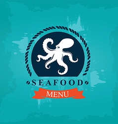 Seafood cafe menu template design vector