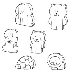 Set of animal eraser vector