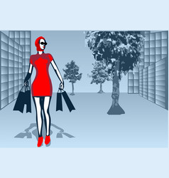 Shopping street vector