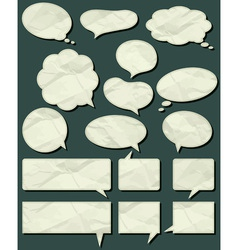 Sixteen crumple labels vector