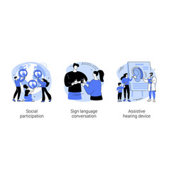 Social engagement abstract concept vector