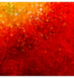 Square pattern in red and orange colors EPS 10 vector image