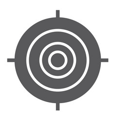 target glyph icon focus and goal aim sign vector image