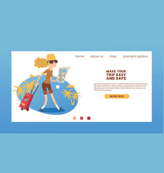 tourist web page traveling people traveler vector image