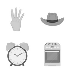 Trade textiles hygiene and other monochrome icon vector