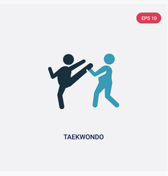 Two color taekwondo icon from sports concept vector