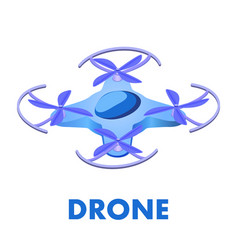 Unmanned aerial vehicle isometric vector