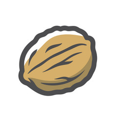 walnut in shell icon cartoon vector image