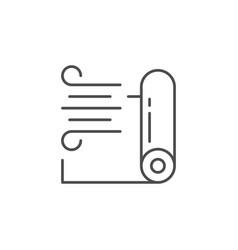 Windpromembrane line outline icon vector