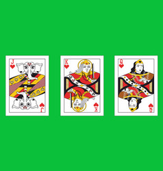 With the indian playing cards vector