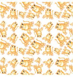 yellow cat seamless pattern vector image
