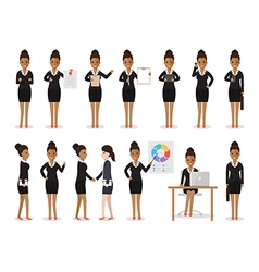 black businesswoman people characters vector image
