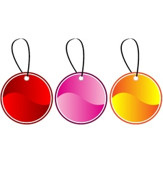 Colored gift tags vector image vector image
