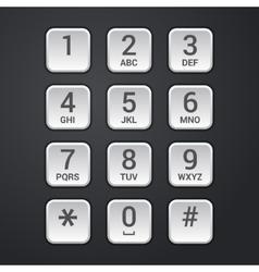 Digital dial plate of security lock or telephone vector image