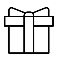 gift box pixel perfect thin line icon 48x48 vector image