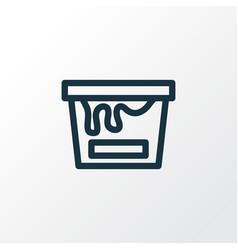 Painting bucket outline symbol premium quality vector