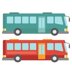 Side view of two city buses vector image vector image