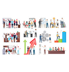 success at work and growth vector image