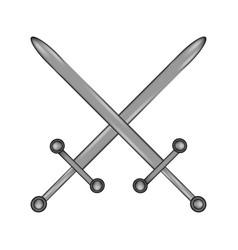 crossed swords sign icon vector image vector image
