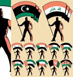flag bearer 4 vector image