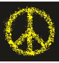 Grunge peace symbol - pacific vector image vector image