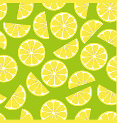 pattern with lemon vector image