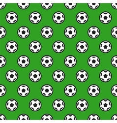 Soccer Ball on Green Seamless Background vector image vector image