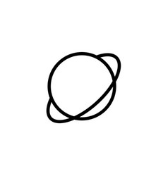 thin line planet saturn jupiter icon vector image vector image
