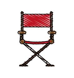 Color crayon stripe image cartoon cinema director vector