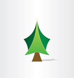 green christmas tree icon design vector image
