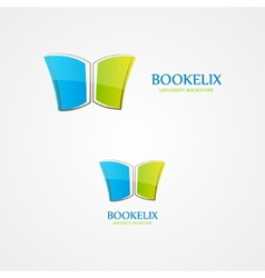 logo of open book vector image vector image