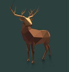 low poly deer vector image