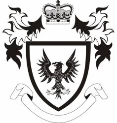 shield with black eagle vector image