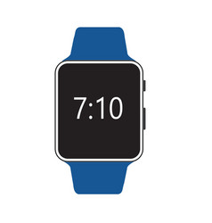 smart watch isolated with icons on white vector image vector image