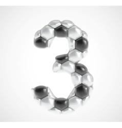 Soccer alphabet eps8 vector image vector image