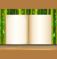 Background template with bamboo vector
