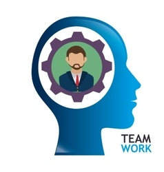 Business teamwork and leadership vector image vector image